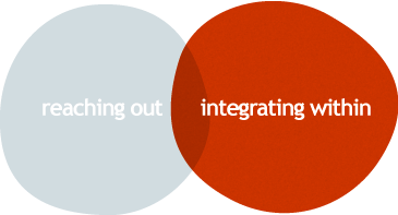 reaching out integrating within